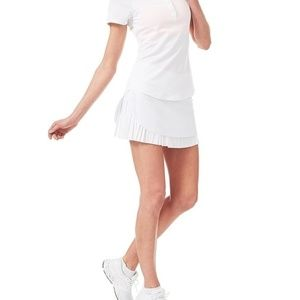 NWT Sweaty Betty white match play tennis skort